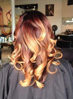 Yup, love my hair! Dope Hairstyles, Pretty Hairstyles, Curly Hair Styles, Natural Hair Styles, Langer Bob, Birthday Hair, Beautiful Hair Color, Hair Affair, Ombre Hair