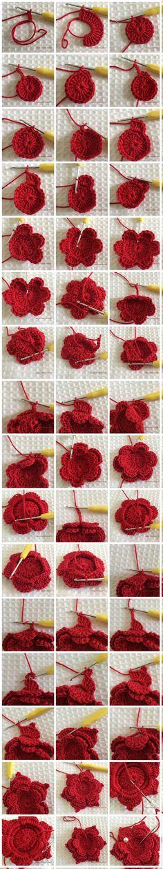Flor de Crochê: Modelos, Gráficos e Passo a Passo