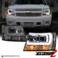 "2007-2014 Chevy Suburban Tahoe Avalanche ""TRON STYLE"" LED Neon Tube Headlights 2014 Chevrolet Silverado 1500, 2014 Chevy, Chevy Silverado, 2007 Chevy Avalanche, Avalanche Truck, Chevy Tahoe Ltz, Chevrolet Tahoe, Jacked Up Trucks, Chevy Trucks"