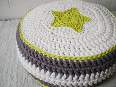 Crochet pouf! Wonderful for kids. https://www.etsy.com/listing/175503277/crochet-pouf-crochet-floor-cushions