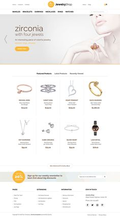 Hot Jewelry is responsive e-commerce Joomla Jewelry template, powered by VirtueMart component and dedicated to online stores that sell jewelry, diamonds, watches, gem stones and similar products. Joomla Templates, Ring Watch, Gem Stones, Selling Jewelry, Ring Necklace, Bangle Bracelets, Diamonds, Watches, Ecommerce