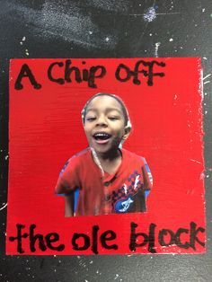 A chip off the ole block Father's Day gift made from blocks of wood
