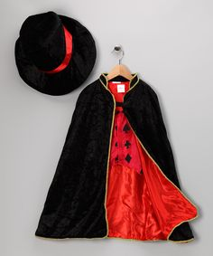 Take a look at this Black Velour Magician Dress-Up Set - Toddler & Kids on zulily today!