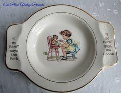 Child Baby Toddler Food Dish Bowl Salem China by EauPleineVintage