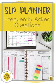 Check out this FAQ on how to use my SLP Planner. It includes all my tips for making your SLP planner perfect for you.