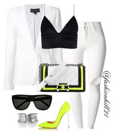 A fashion look from March 2016 featuring T By Alexander Wang tops, Brandon Maxwell blazers and (+) PEOPLE jeans. Browse and shop related looks. White Outfits, Classy Outfits, Casual Outfits, Fashion Outfits, Womens Fashion, I Love Fashion, Passion For Fashion, Fashion Looks, Vetement Fashion