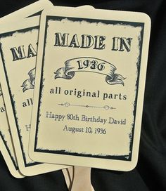 Adult Birthday Favors | Adult Party Favors | 80th Birthday Party Ideas | by abbey and izzie designs