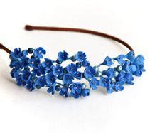 White lilac flower hair wreath bridal hair от JewelryFloren