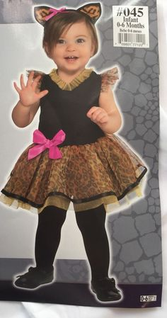 1ff566f4289 Cutie Cat Halloween Costume Baby Girls Size 0-6 Months Black Brown Pink  Infant  fashion  clothing  shoes  accessories  costumesreenactmenttheater   costumes ...