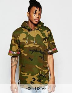 Image 1 ofThe New County Camo Hoodie In Short Sleeves