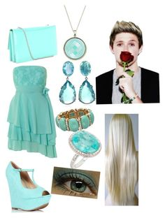 """""""Dinner date with Niall"""" by annabeth123chase ❤ liked on Polyvore featuring Izabel London, Bounkit, Salvatore Ferragamo, Blu Bijoux and Hera"""