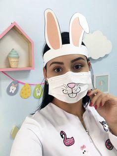 Funny Face Mask, Easy Face Masks, Diy Face Mask, Mouth Mask Fashion, Fashion Mask, Baby Sewing Projects, Sewing Crafts, Mouth Mask Design, Bunny Face