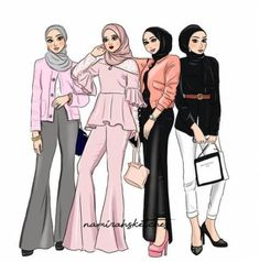 19 Ideas Fashion Drawing Sketches Art Girl - Fashion Show Fashion Design Sketchbook, Fashion Illustration Sketches, Fashion Design Drawings, Fashion Sketches, Drawing Sketches, Drawing Art, Hijab Drawing, Drawing Style, Drawing Ideas