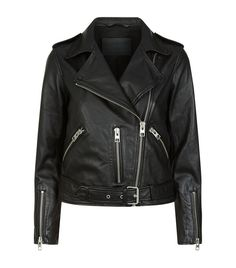 Women: Leather Jackets AllSaints Balfern Leather Biker Jacket