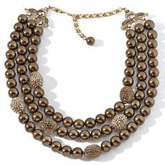 """Heidi Daus """"The Big Pretty"""" Crystal-Accented 3-Row Necklace at HSN.com."""