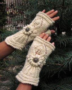 Ivory mitts  Smile by domklary