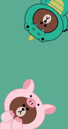 Peach Wallpaper, Pig Wallpaper, Friends Wallpaper, Kawaii Wallpaper, Cute Cartoon Wallpapers, Pretty Wallpapers, Cartoon Images, Kaws Iphone Wallpaper, Cute Couple Wallpaper