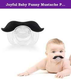Joyful Baby Funny Mustache Pacifier For Baby Boys BPA FREE. JOYFULL BABY Mustache Pacifier is the funniest pacifier in America and neighboring continents. Mustaches are back in new brand style and that's for everyone including babies. However babies are focally challenged and that's why the Pacifier is as handy as a handle bar mustache. The Mustache pacifier is funny because the baby thinks you are laughing at him, instead of laughing at his ridiculous little face with a mustache. It is…