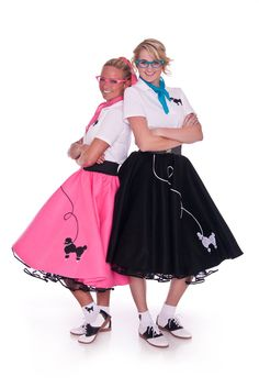 Complete Ladies 6 Pc 50's Poodle Skirt Outfit Adult size - You Choose Color/Size. $68.99, via Etsy.