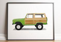 SUV Print, SUV Wall Art, Transportation Print, Girl Boy Room, Vintage Car, Toddlers Room Decor, Printable, Classic Car