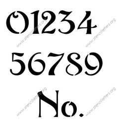 Art Nouveau Letter Stencils Numbers and Custom Made to Order ...