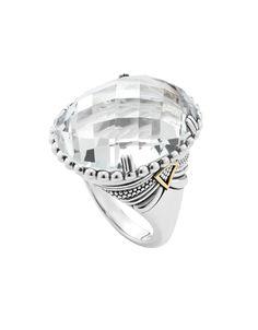 Statement White Topaz Gemstone Ring | LAGOS.com