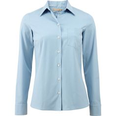 Michael Kors Classic Button Down Shirt (€450) ❤ liked on Polyvore featuring tops, collared shirt, slim fit shirt, button down top, michael kors tops and blue collared shirt