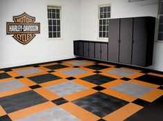 Harley-Davidson Flooring from Texas Garages!