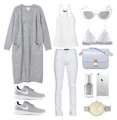 """""""The Perfect Spring Outfit"""" by fashionlandscape ❤ liked on Polyvore featuring Monki, TIBI, J Brand, NIKE, CÉLINE, Olivia Burton, BCBGMAXAZRIA, Fleur of England and Leighton Denny"""