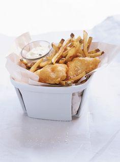Fish and chips.   j ai enrobé de fécule au lieu de la farine ....