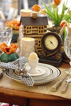 Cabin Spring Table Setting
