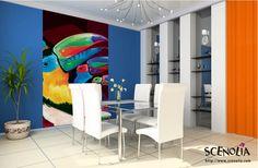 TOUS CES TOUCANS http://www.scenolia.com/decor-mural-vertical/1278-decor-toucans-bruno-thery.html