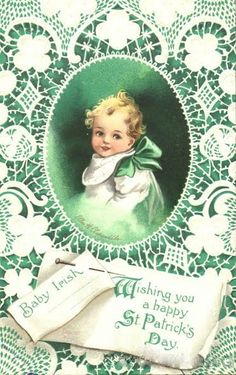 Baby Irish Vintage Postcards - St. Patrick's Day