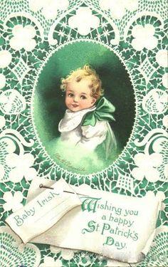 Baby Irish Vintage Postcards - St. Patrick's Day