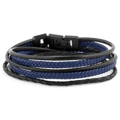 Buy Lucleon - Black & Blue Roy Leather Bracelet for only Shop at Trendhim and get returns. We take pride in providing an excellent experience. Black Leather Bracelet, Black Bracelets, Bracelets For Men, Paracord Bracelets, Beaded Bracelets, Engraved Bracelet, Bracelet Cuir, Bracelet Men, Black And Brown