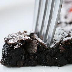 Swedish Sticky Chocolate Cake (Kladdkaka ) by Tasty