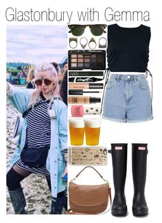 """• Glastonbury with Gemma"" by dianasf ❤ liked on Polyvore featuring Hunter, Topshop, Mulberry, J.Crew, Casetify, Pull&Bear, NARS Cosmetics, Maybelline, MAC Cosmetics and Bobbi Brown Cosmetics"