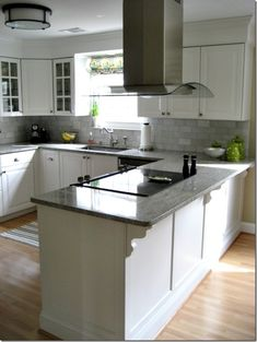 Budget reno example: total kitchen reno for using Ikea Lidingo cabs Kitchen Stove, Kitchen Redo, Home Decor Kitchen, New Kitchen, Home Kitchens, Kitchen Remodel, Kitchen Dining, Kitchen Ideas, Basement Kitchen