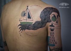 Wonderful Tattoos Of Whimsical, Abstract Illustrations - DesignTAXI.com