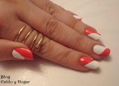 Manicura con esmaltes #Masglo http://estilo-y-hogar.blogspot.com.es/2015/02/manicura-de-san-valentin-trocitos-del.html