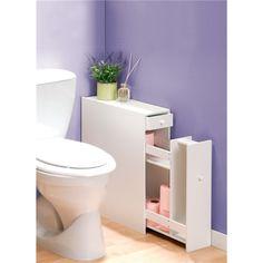 Pratique : un mini meuble dans les toilettes pour cacher les réserves!