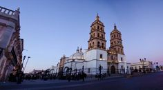 The famous main square at dusk, courtesy of Trip Advisor. I use to criss-cross the square at least once a day! Mexico Tourism, Mexico Travel, Durango Mexico, Mexico Vacation, Dusk, Notre Dame, Trip Advisor, At Least, Adventure