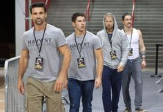 Frank Grillo, Nick Jonas, Matt Lauria & Jonathan Tucker. #KingdomTV