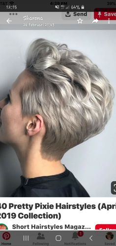 Pixie Wedge - Short Pixie Cuts for 2019 – Everything You Should Know About a Pixie Cut - The Trending Hairstyle Short Grey Hair, Short Hair Cuts For Women, Short Hairstyles For Women, Curly Hair Styles, Natural Hair Styles, Blonde Bob Hairstyles, Rides Front, Short Pixie Haircuts, Haircut Styles