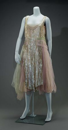 Evening dress (image 1)   American   1926   satin, sequins, tulle   Museum of Fine Arts, Boston   Accession #: 54.1027