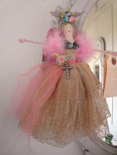 handmade fairy - antique lace
