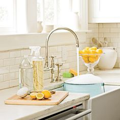 Green Cleaning Products That Really WorkHere are our tips on how to make them at home and purchase the best store products from Southern Living magazine. More cleaning DIY and shortcuts at http://pinterest.com/wineinajug/cleaning-shortcuts-and-diy-products/