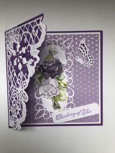 Friend Cards, Cards For Friends, Butterfly Cards, Flower Cards, 3d Cards, Your Cards, Marianne Design, Heartfelt Creations, Greeting Cards Handmade