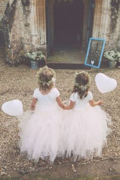 Blush Pink Flower Girl Tulle Skirt in by princessdoodlebeans