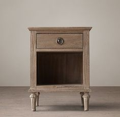 """26""""H X 20""""W X 18""""D.  Likes in antiqued white.  RH Maison 20""""Open Nightstand"""
